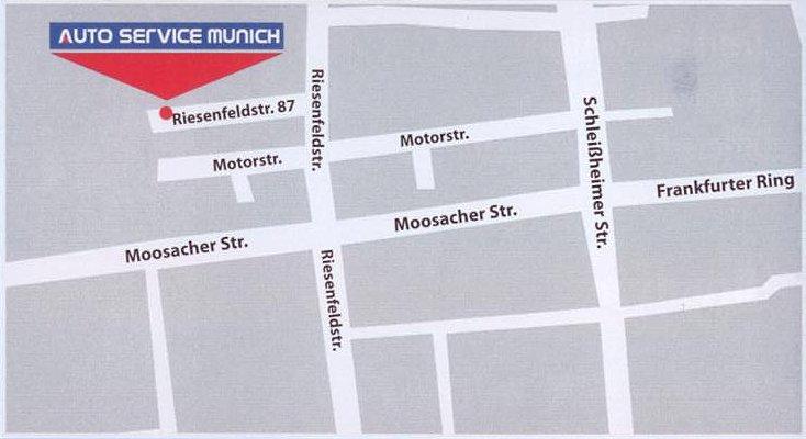 Lageplan Auto Service Munich